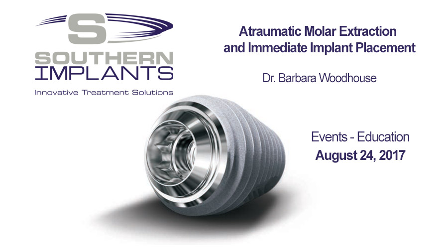 August 24, 2017 – Atraumatic Molar Extraction and Immediate Implant Placement
