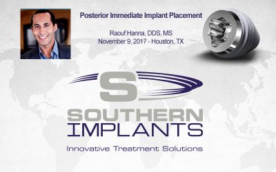 November 9, 2017 – Posterior Immediate Implant Placement