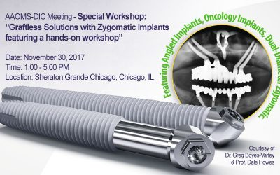 November 30, 2017 – AAOMS-DIC Meeting – Special Workshop – Graftless Solutions with Zygomatic Implants featuring a hands-on workshop