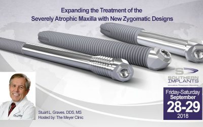 September 28-29, 2018 – Expanding the Treatment of the Severely Atrophic Maxilla with New Zygomatic Designs
