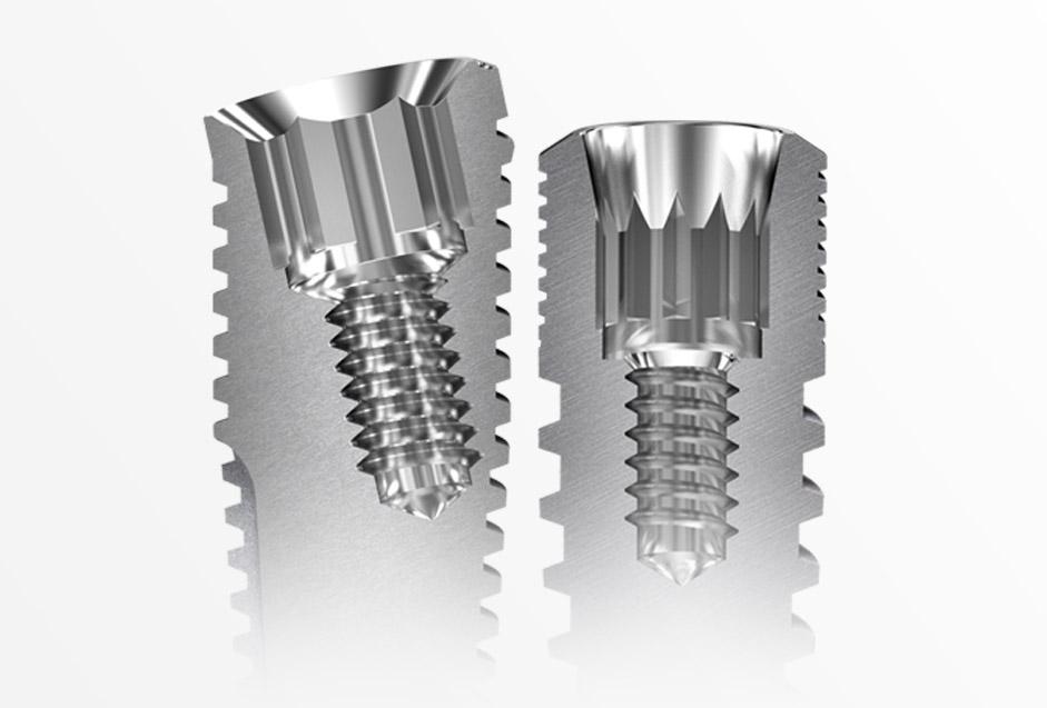 Connexions disponibles pour les implants dentaires