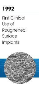 1992 - First Clinical Use of Roughened Surface Implants