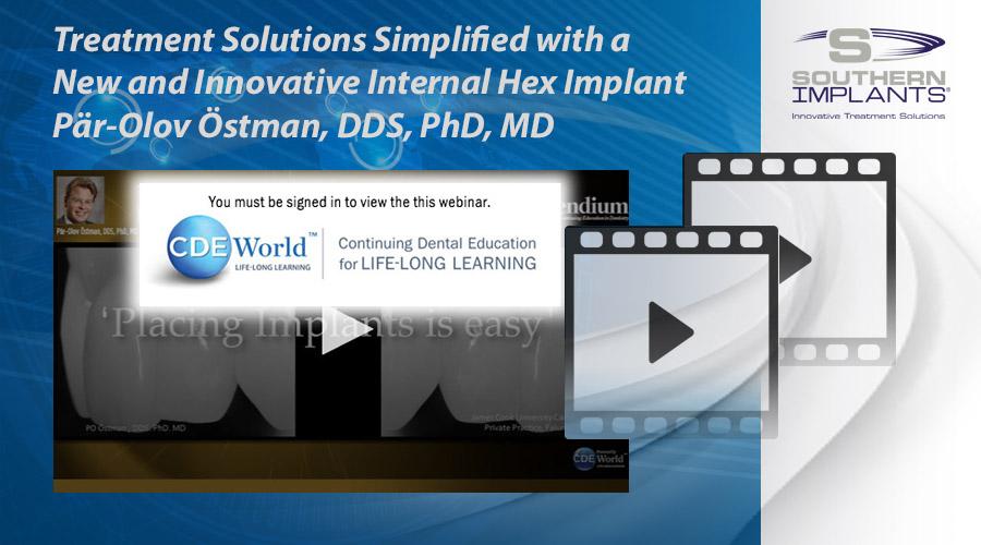 Webinar: Behandlingslösningar förenklad med ett nytt och innovativt internheximplantat