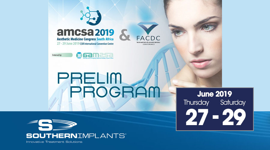 June 27-29, 2019 – AMCSA 2019 Aesthetic Medicine Congress South Africa