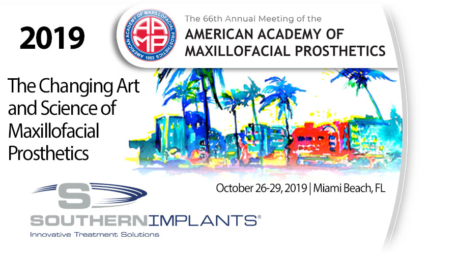 October 26-29, 2019 – American Academy of Maxillofacial Prosthetics (AAMP) 66th Annual Meeting