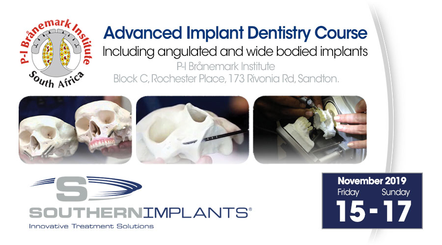 November 15-17, 2019 – Advanced Implant Dentistry Course