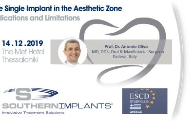 December 14, 2019 – The Single Implant in the Aesthetic Zone – Indications and Limitations