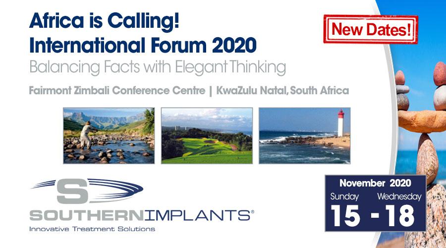 November 15 – 18, 2020 – Southern Implants International Forum