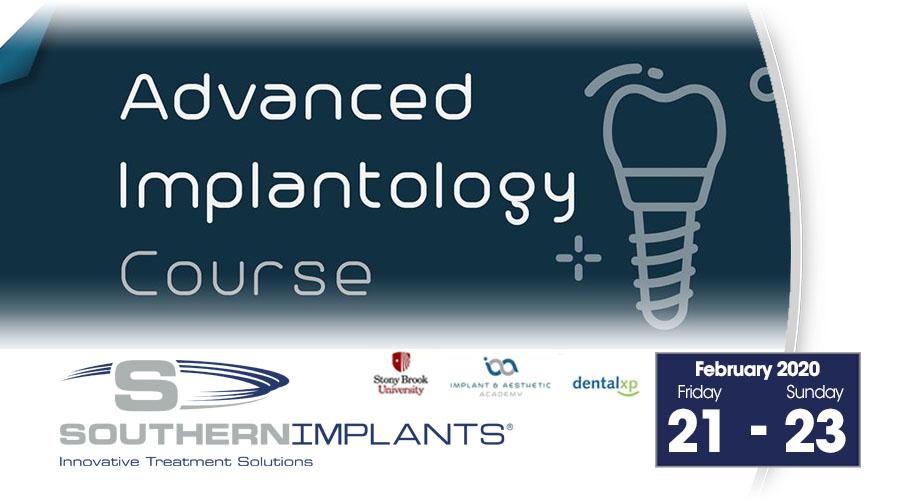 February 21-23, 2020 – Advanced Implantology Course