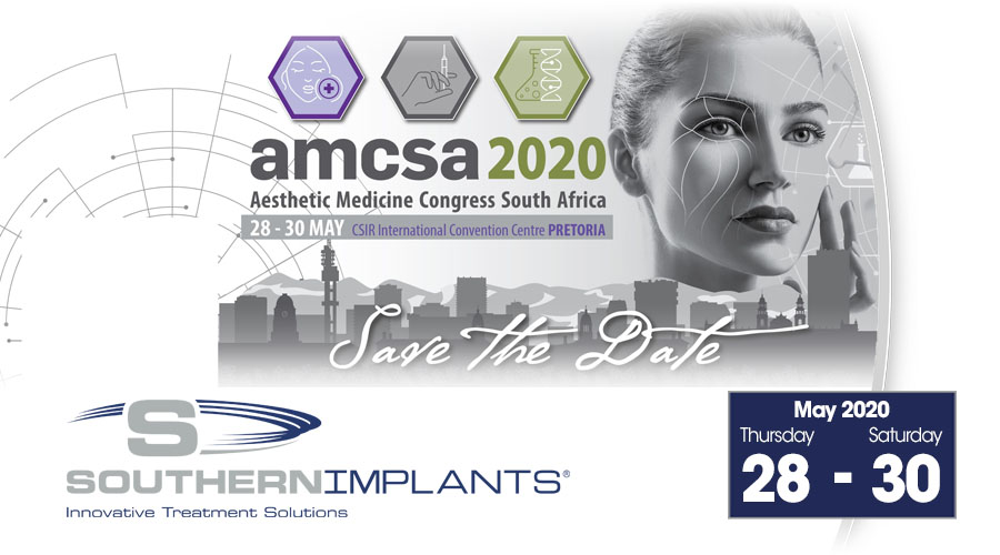 May 28-30, 2020 – Aesthetic Medicine Congress of South Africa (AMCSA) 2020 Congress