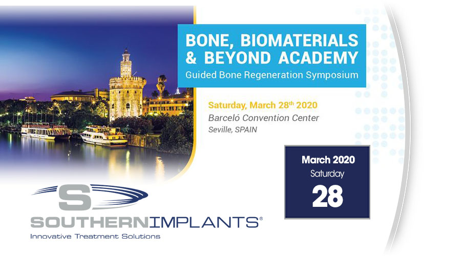 March 28, 2020 – Bone Biomaterials & Beyond Academy – Guided Bone Regeneration Symposium 2020