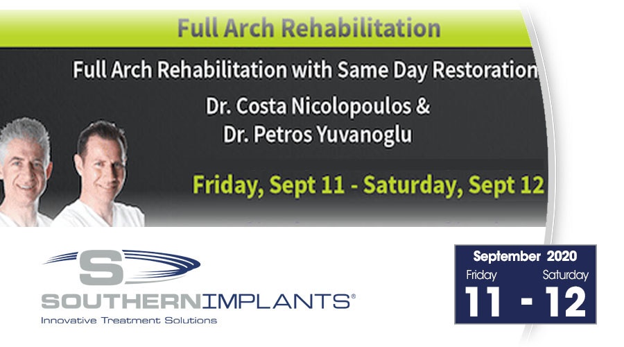 September 11-12, 2020 – Full-Arch Rehabilitation with Same Day Restoration