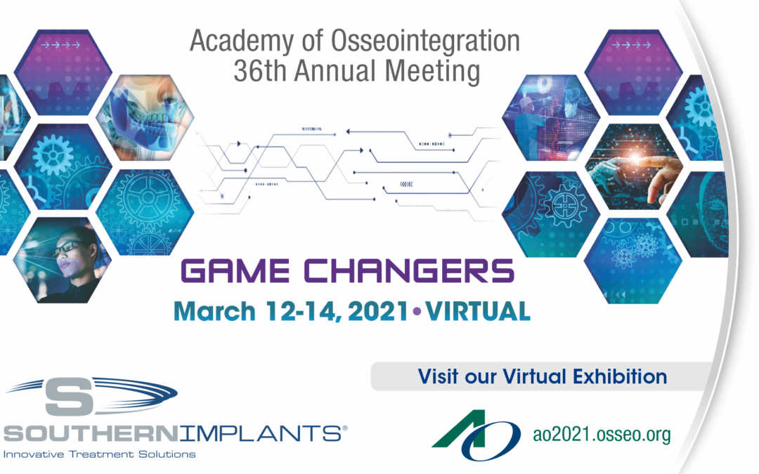 Academy of Osseointegration Annual Meeting (Virtual): 12-14 mars 2021