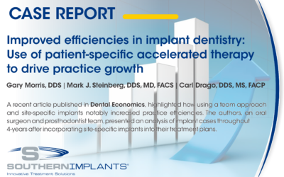 Improved efficiencies in implant dentistry: Use of patient-specific accelerated therapy to drive practice growth