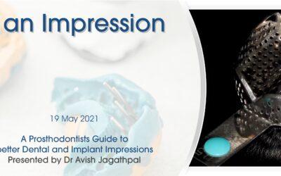 Att göra ett intryck, presenterat av Dr Avish Jagathpal